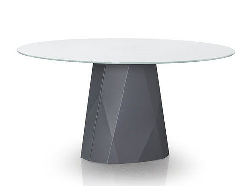 Diamond Dining Table - Square or Round Glass Top
