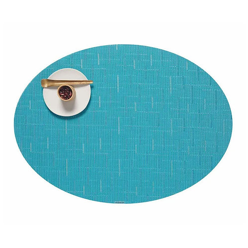 "Chilewich ""Bamboo"" Oval Placemat in Teal"