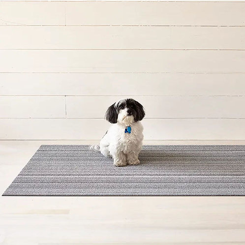 "Chilewich ""Skinny Stripe Shag"" Mat in Shadow"