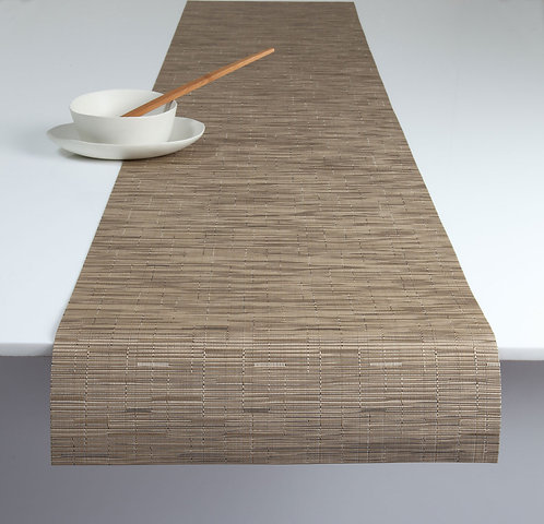 """Chilewich """"Bamboo"""" Runner in Camel"""