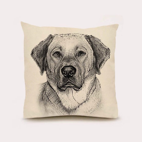 """Yellow Lab #2"" Pillow"