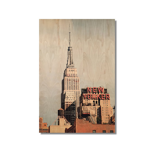 """New Yorker"" Photograph on Birch"