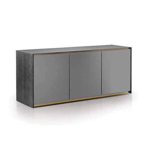 Vision Buffet, Full Doors with Etched Glass