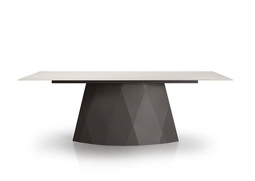 Diamond Dining Table - Rectangle with Glass Top