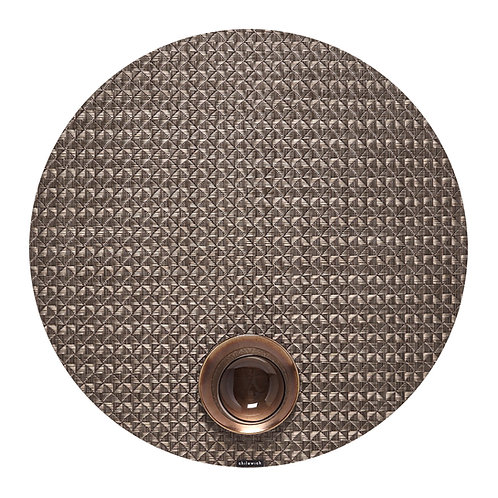 """Chilewich """"Origami"""" Round Placemat - Cocoa"""