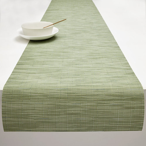 "Chilewich ""Bamboo"" Runner in Spring Green"