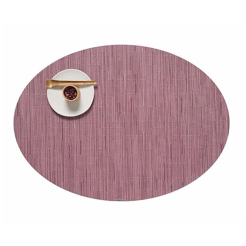 "Chilewich ""Bamboo"" Oval Placemat in Rhubarb"