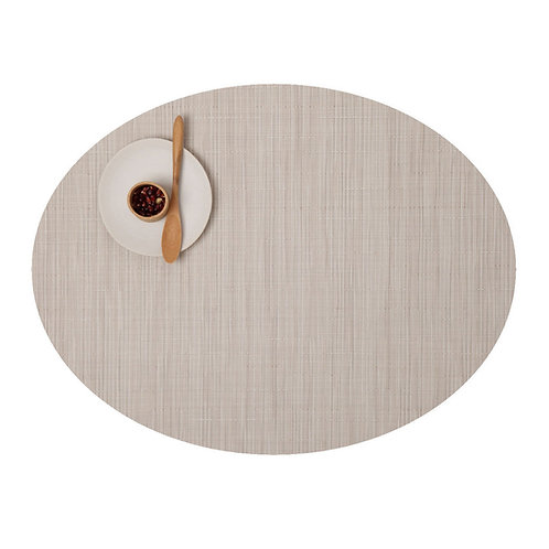 "Chilewich ""Bamboo"" Oval Placemat in Chino"
