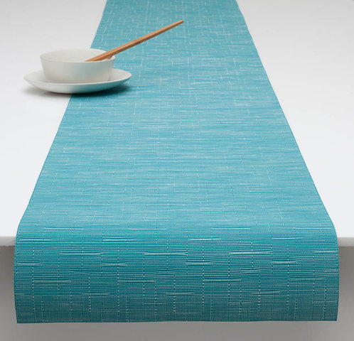 """Chilewich """"Bamboo"""" Runner in Teal"""