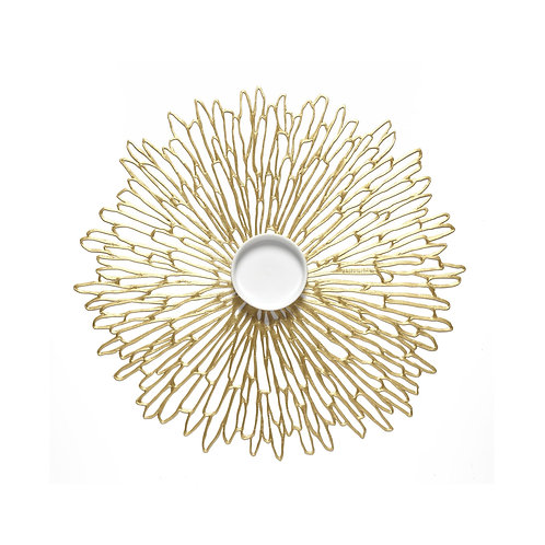 "Chilewich ""Bloom"" Round Placemat in Gilded"