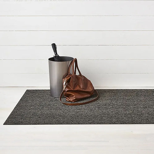 "Chilewich ""Heathered Shag"" Mat in Black and Tan"