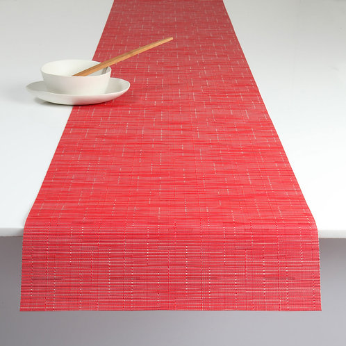 "Chilewich ""Bamboo"" Runner in Poppy"