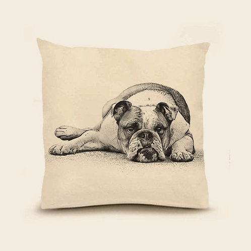 """Bulldog"" Pillow"