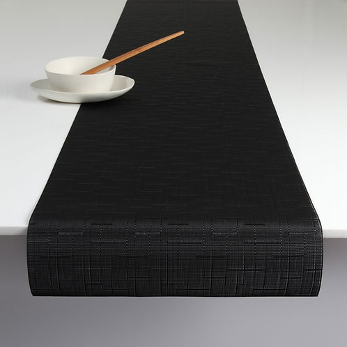 """Chilewich """"Bamboo"""" Runner in Jet Black"""