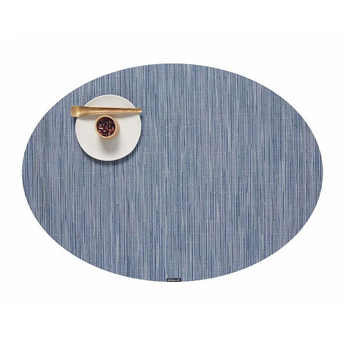 "Chilewich ""Bamboo"" Oval Placemat in Rain"