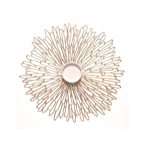 "Chilewich ""Bloom"" Round Placemat in Champagne"