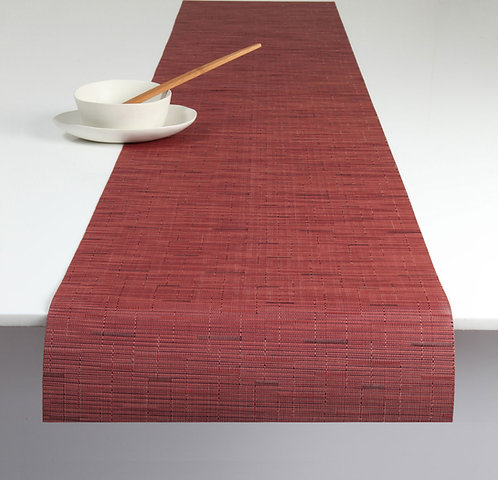 """Chilewich """"Bamboo"""" Runner in Cranberry"""