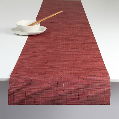 "Chilewich ""Bamboo"" Runner in Cranberry"