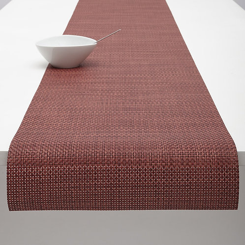 "Chilewich ""Basketweave"" Runner in Pomegranate"