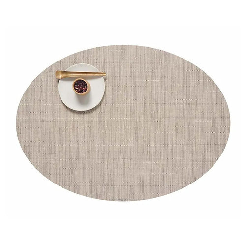 """Chilewich """"Bamboo"""" Oval Placemat in Oat"""