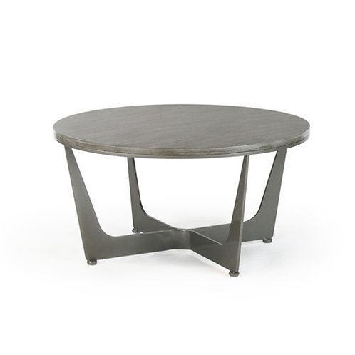 Connor Round Cocktail Table - Wood Top