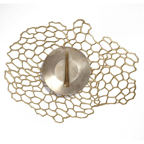"Chilewich ""Sea Lace"" Placemat - in Brass"