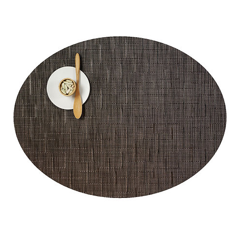 "Chilewich ""Bamboo"" Oval Placemat in Chocolate"