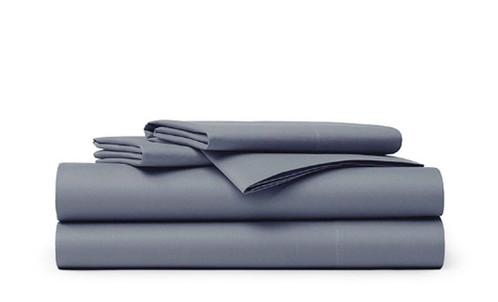 Queen Bed Sheet Set Blue Grey Color