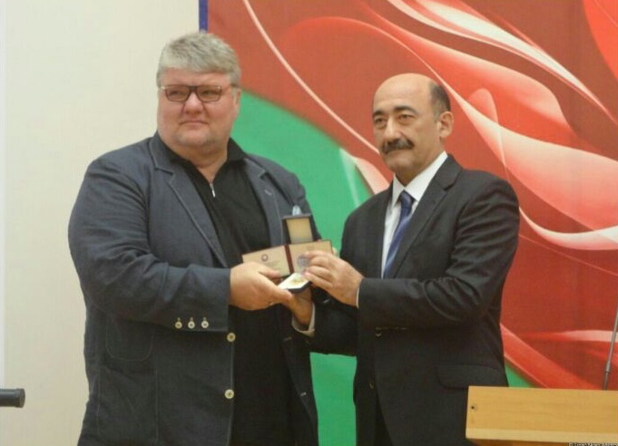 Dmitry Yablonsky and Mr. Abulfas Karaev, Minister of Culture and Tourism of Azerbaijan.