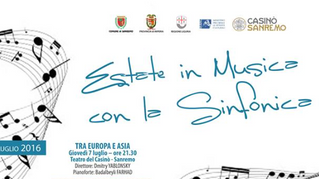 Dmitry Yablonsky conducts the Orchestra Sinfonica di San Remo