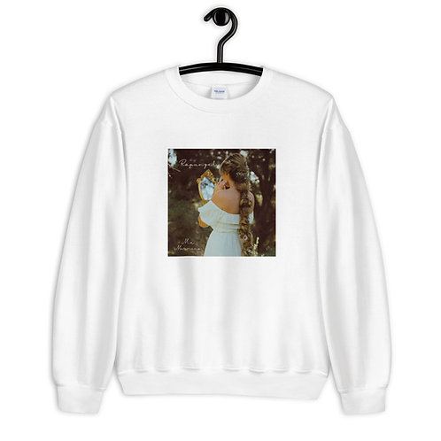 """Rapunzel"" - White Crewneck Sweatshirt"
