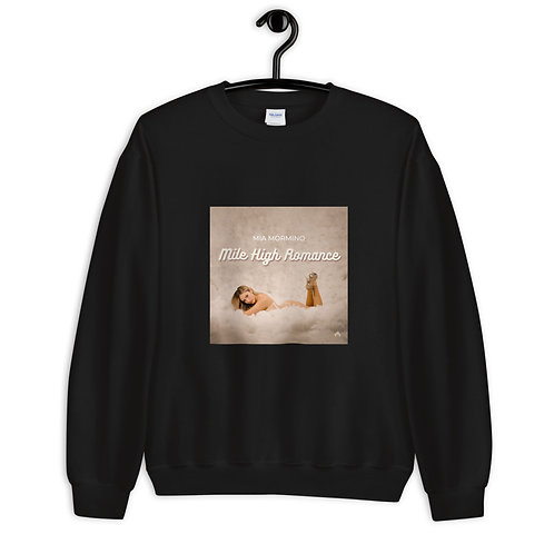 """Mile High Romance"" - Black Crewneck Sweatshirt"