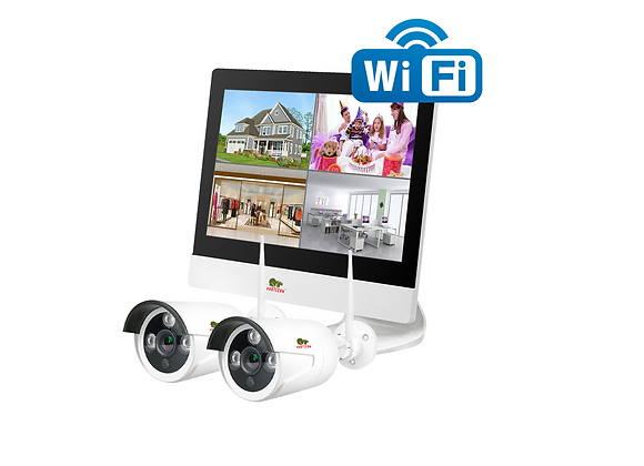 2.0MP Outdoor LCD Wi-Fi set IP-24 2xCAM + 1xNVR