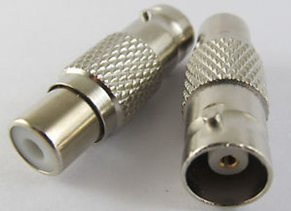 BNC Female To RCA Female CCTV adapter Connectors Nickel