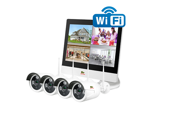 2.0MP Outdoor LCD Wi-Fi set IP-26 4xCAM + 1xNVR