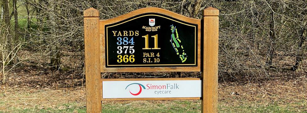 Simon Falk Eyecare optometrists in Leeds are proud sponsors of Scarcroft Golf Club