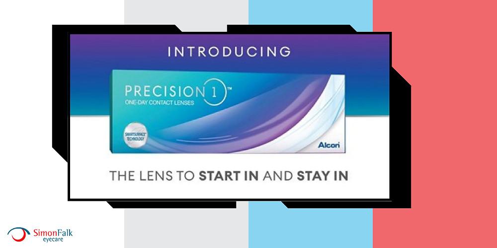 Precision 1 contact lenses at Simon Falk eyecare leeds