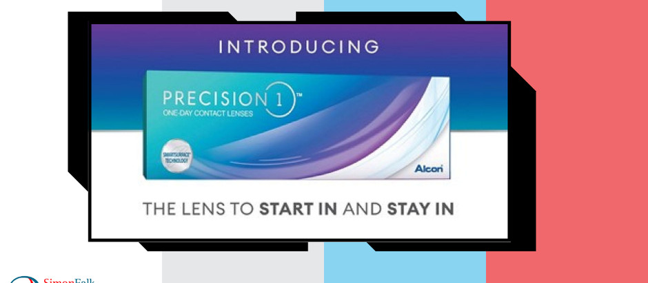 We are launching Precision 1 contact lenses