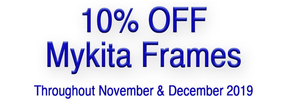 10% Off Mykita Frames