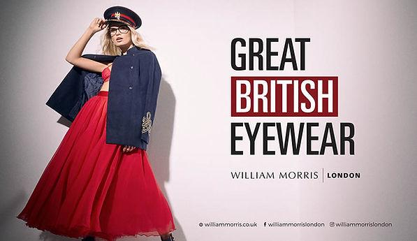 William Morris eyewear at Simon Falk Eye