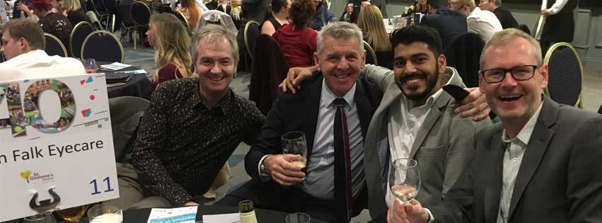 Simon Falk Eyecare team were at Question of Sport Charity Dinner