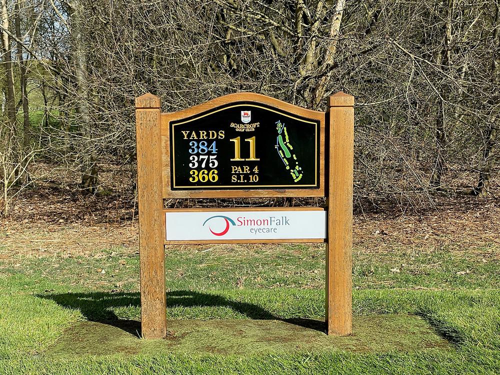 Simon Falk Eyecare opticians sponsors of Scarcroft Golf Club