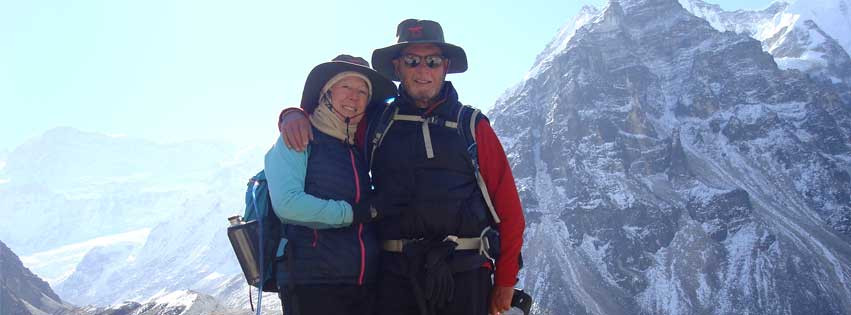 Kevin and Jeanette Sharp have recently visited Nepal and are seen here wearing their Maui Jim sunglasses! Simon Falk Eyecare Opticians in Leeds