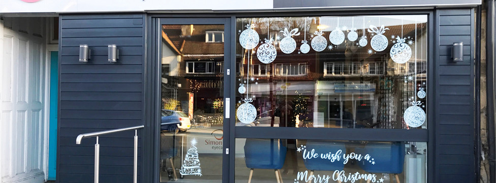 Its all Christmassy at Simon Falk Eyecare opticians in Leeds, Optometrists