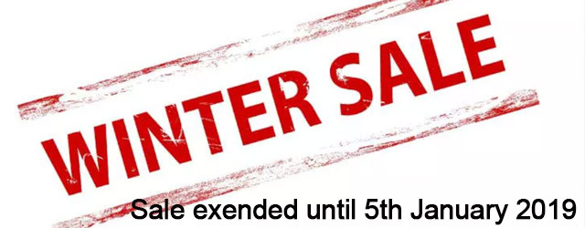 Winter Sale Extended until the New Year