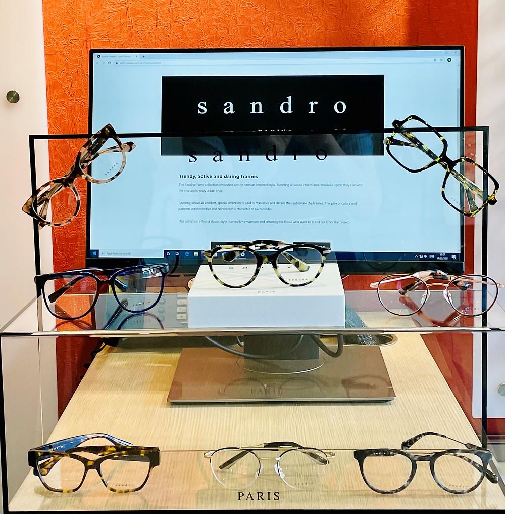 Simon Falk Eyecare are Leeds stockists for Sandro frames from Paris