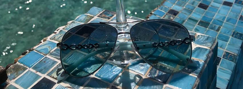 Tiffany sunglasses are in the Maldives
