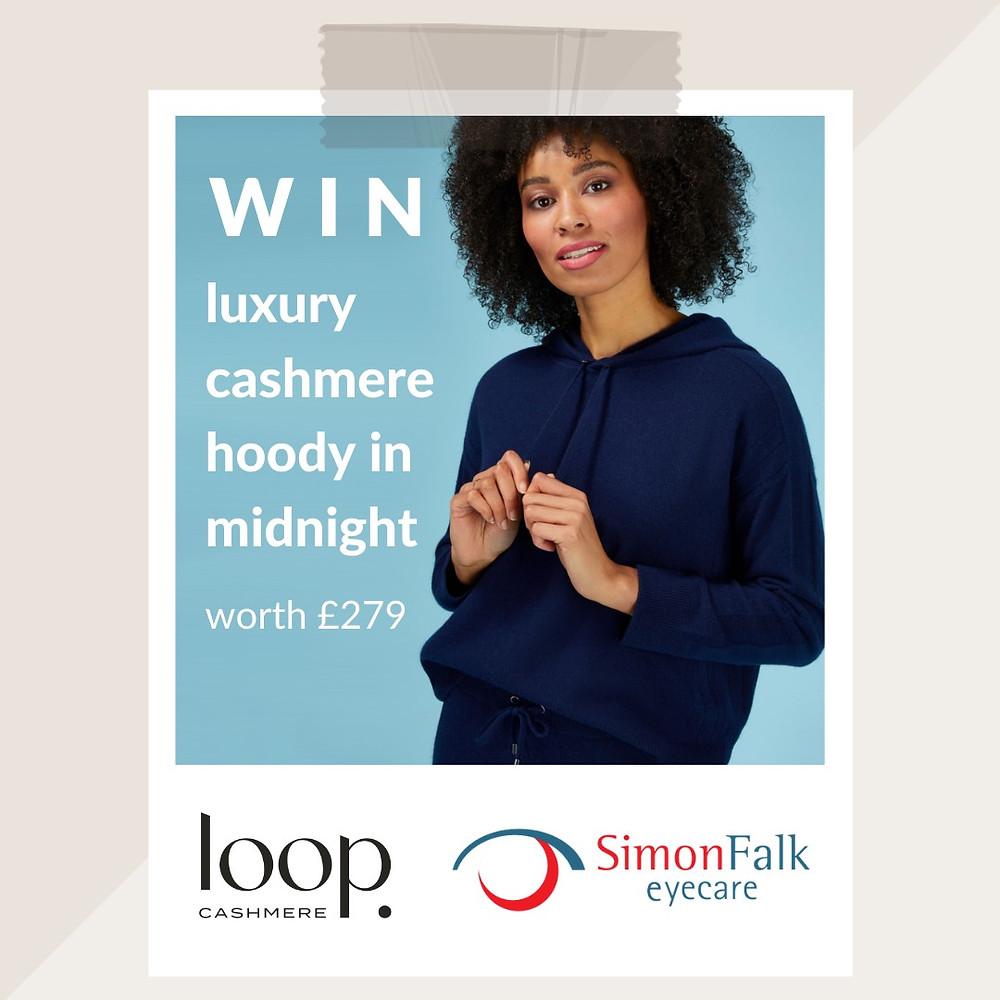 Win a luxury cashmere hoody with Simon Falk Eyecare of Leeds