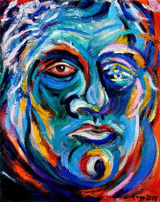 Fauve Mask Self-Portrait, 2018