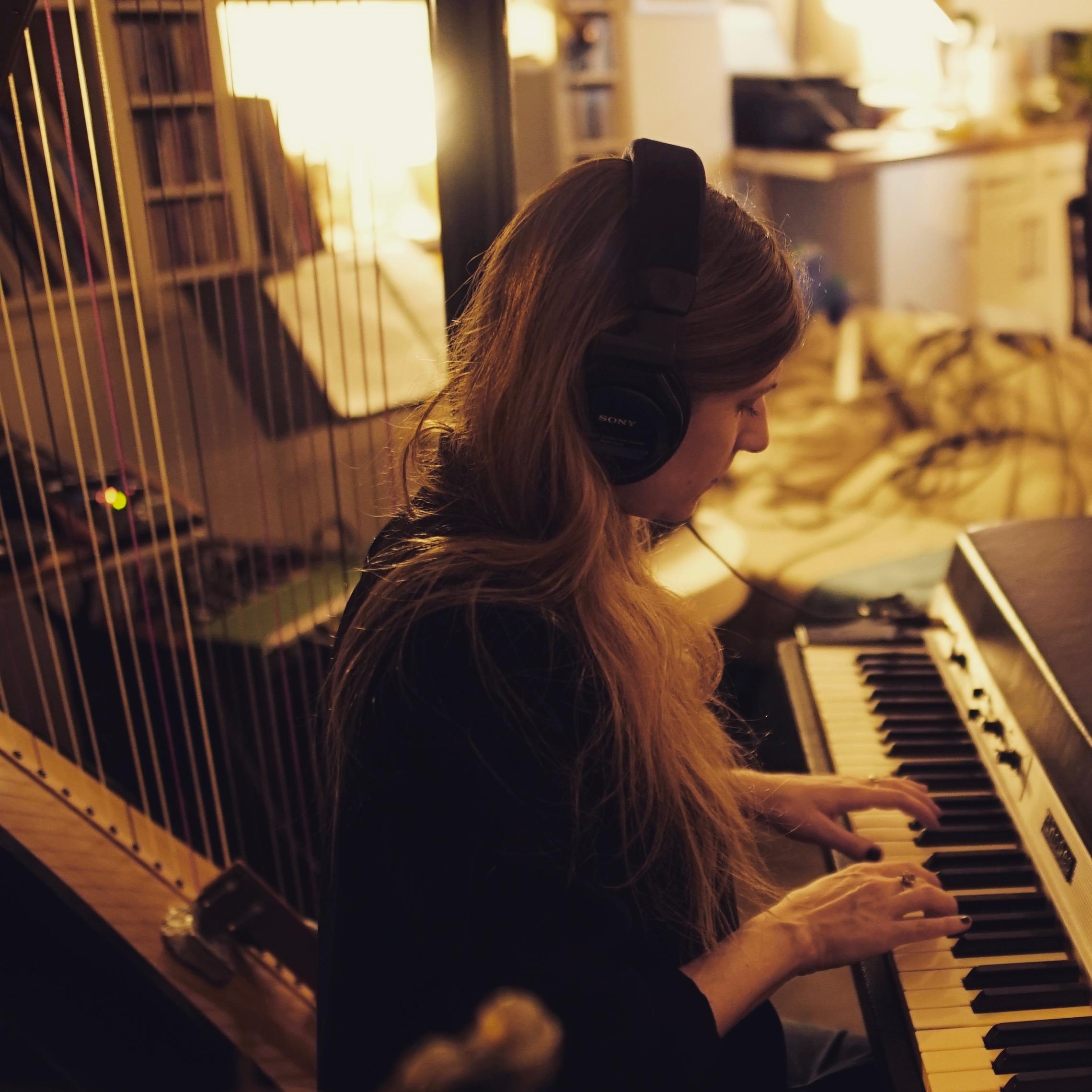 Enregistrement avec Romuald Lauverjon- Photo : Alexandre Brisa